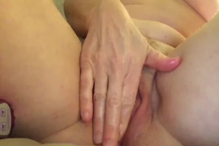 Playing with my cum after orgasm